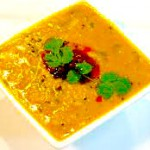 Dal garnished with Fresh Coriande