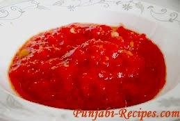 Raw Tomato Chutney or Tamater Chutney